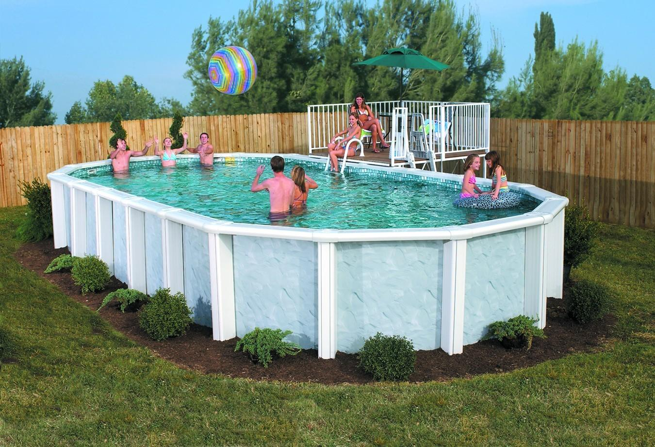 Above Ground Pool Ideas Trends Including Landscaping