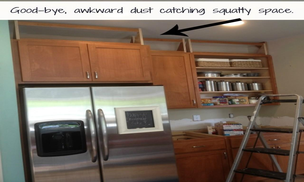Above Kitchen Cabinet Decorations Space