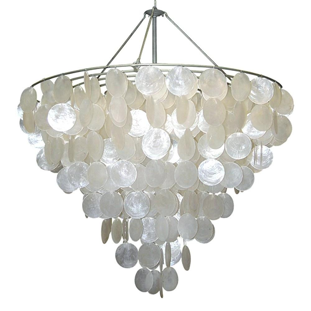 Absorbing Capiz Shell Chandelier Ideas