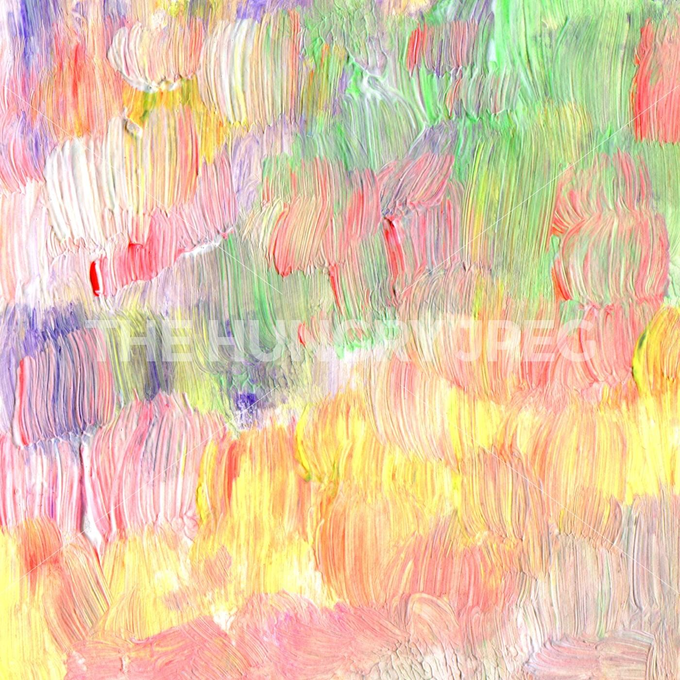 Abstract Acrylic Watercolor Brush Strokes Painted