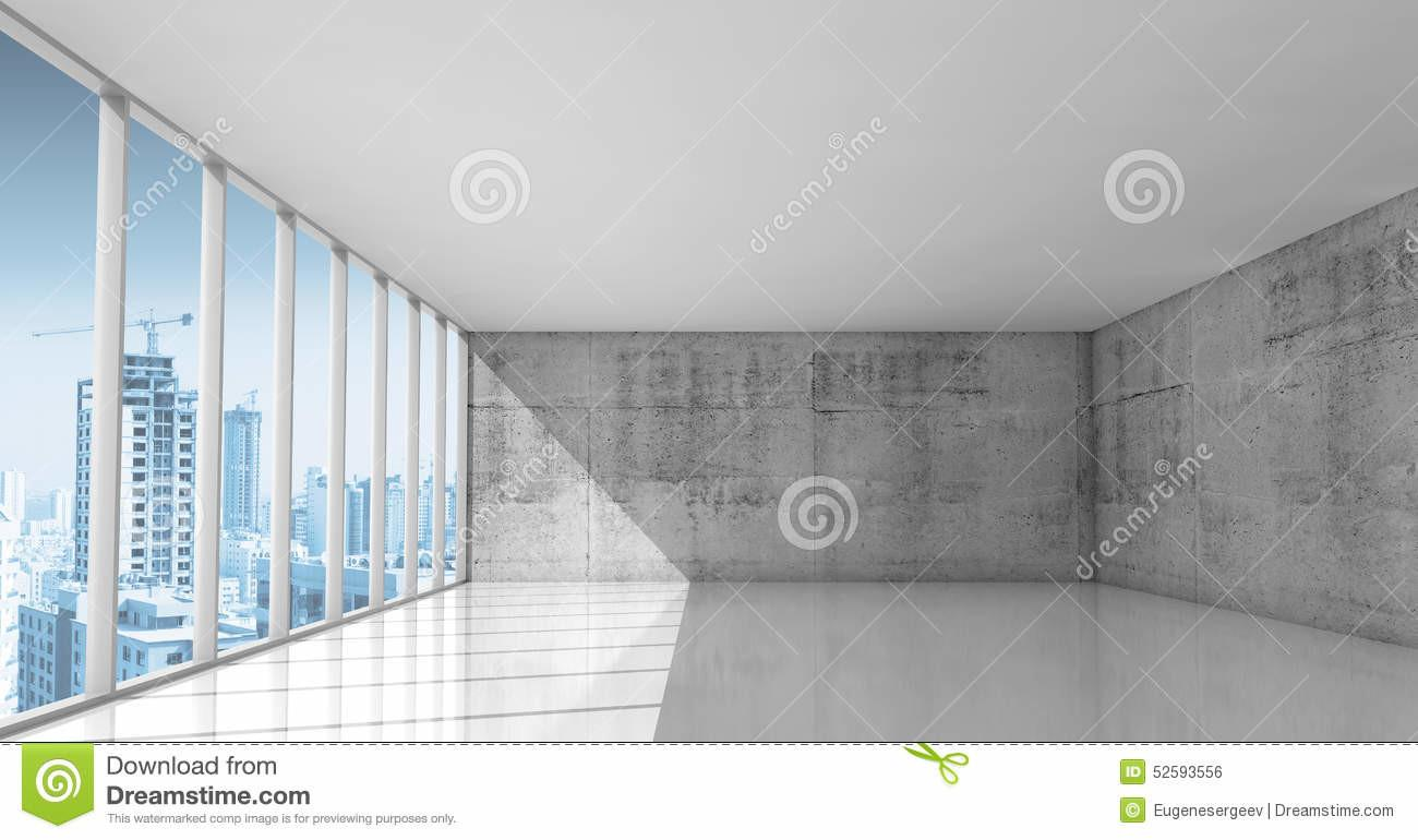 Abstract Architecture Empty Interior Concrete Walls
