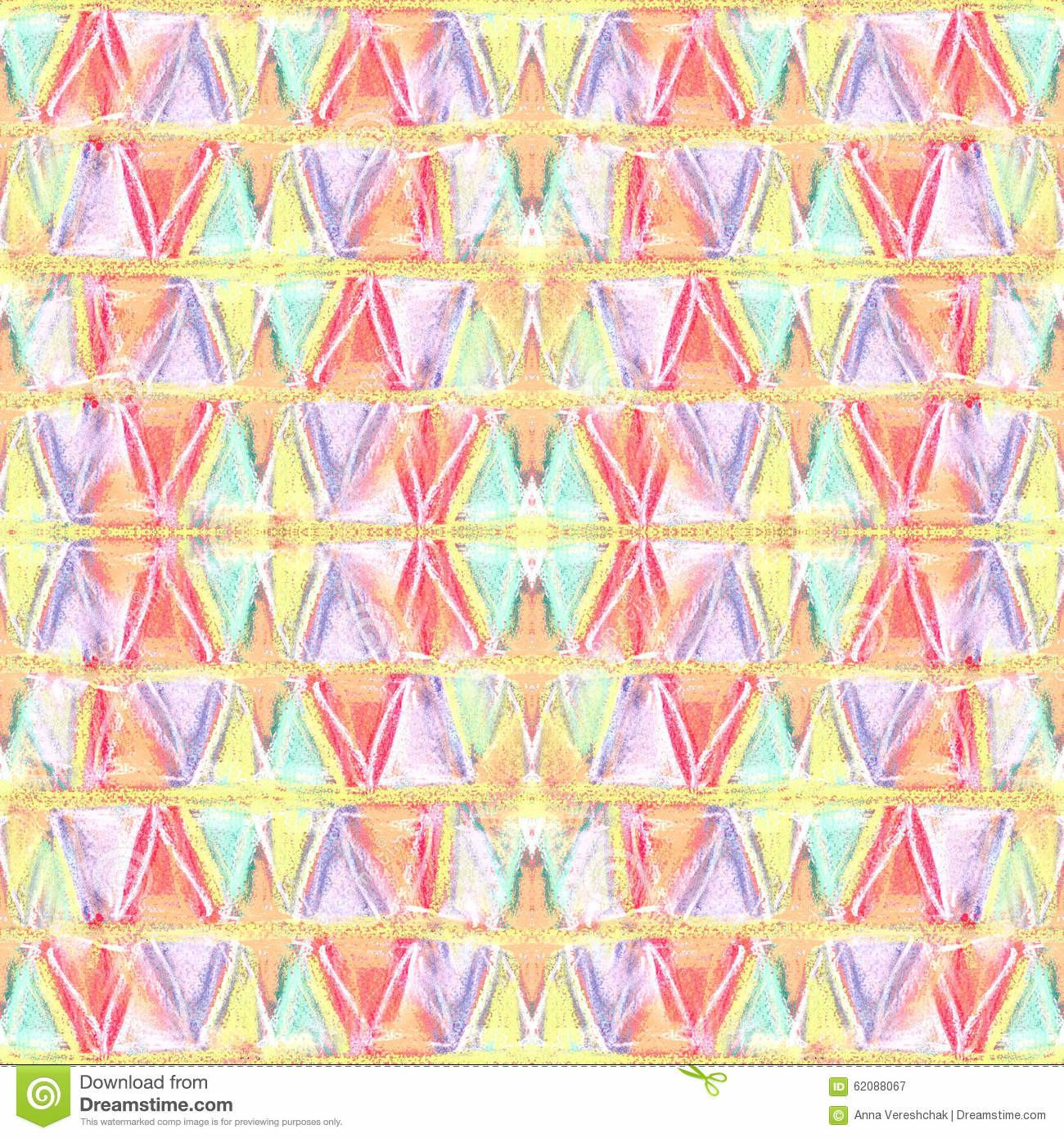 Abstract Color Pastel Seamless Pattern Primitive Style