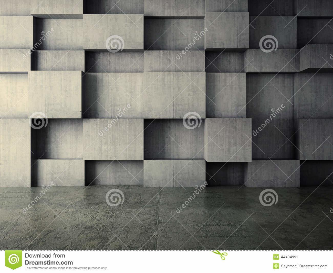 Abstract Interior Concrete Wall Stock