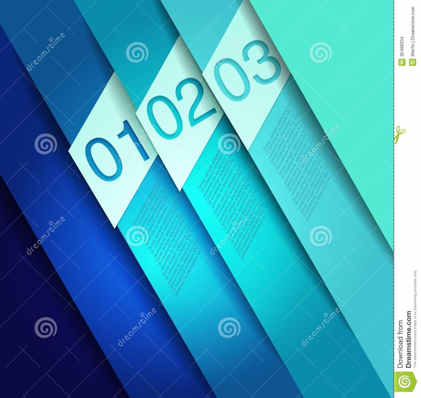 Abstract Line Design Template Stock