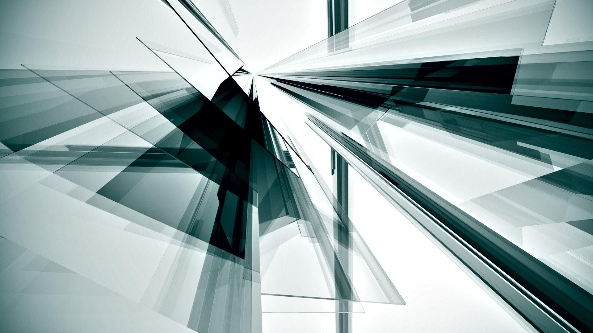 Abstract Minimalistic Silver Digital Art Renders