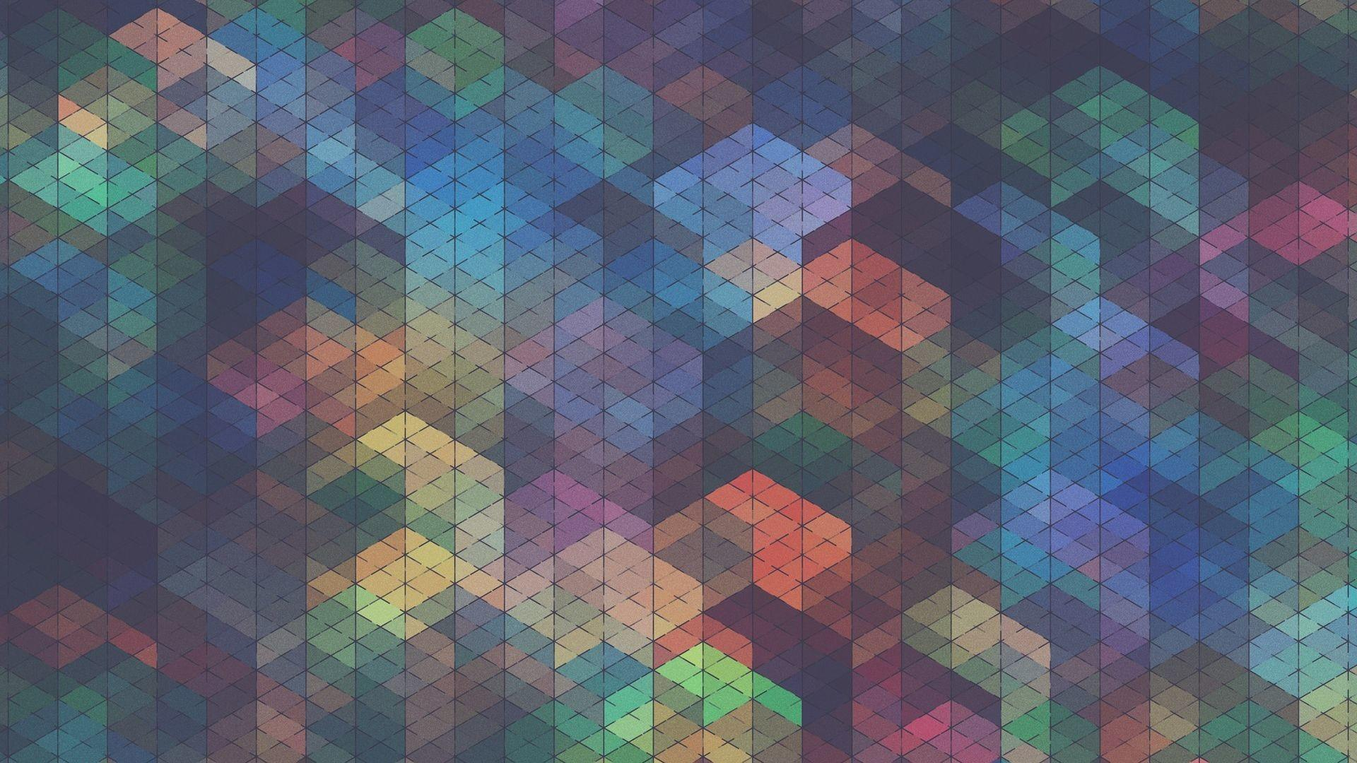 Abstract Multicolor Tiles Fullhdwpp