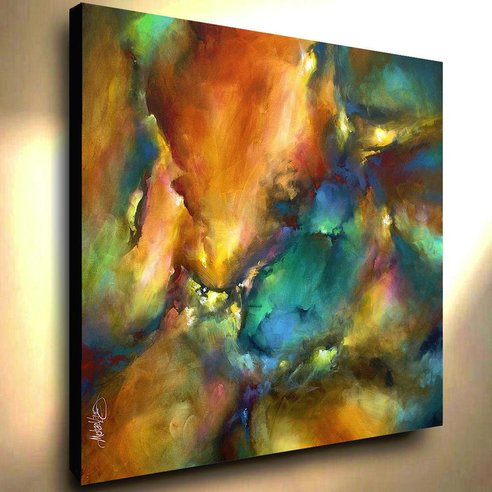 Abstract Painting Giclee Canvas Print Original Michael