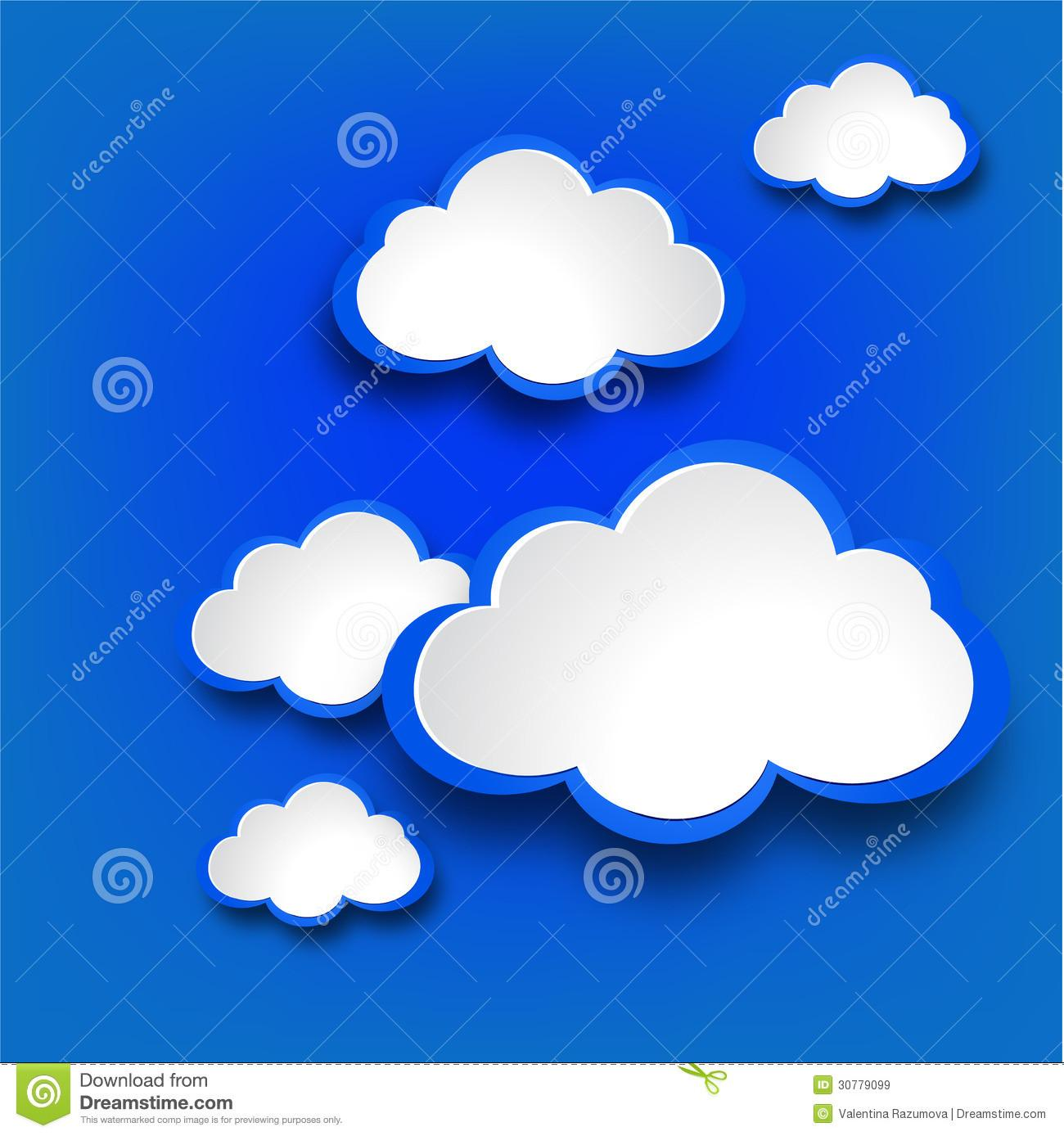 Abstract Web Design Clouds Royalty