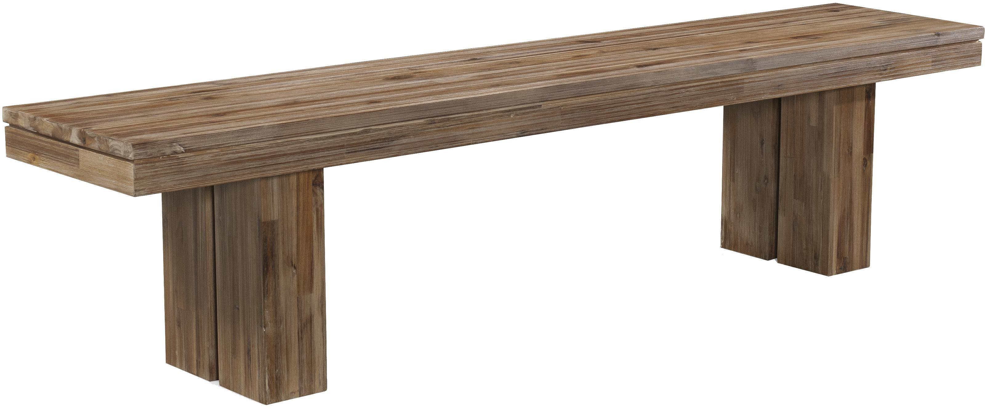 Acacia Wood Modern Rustic Dining Bench Rectangular