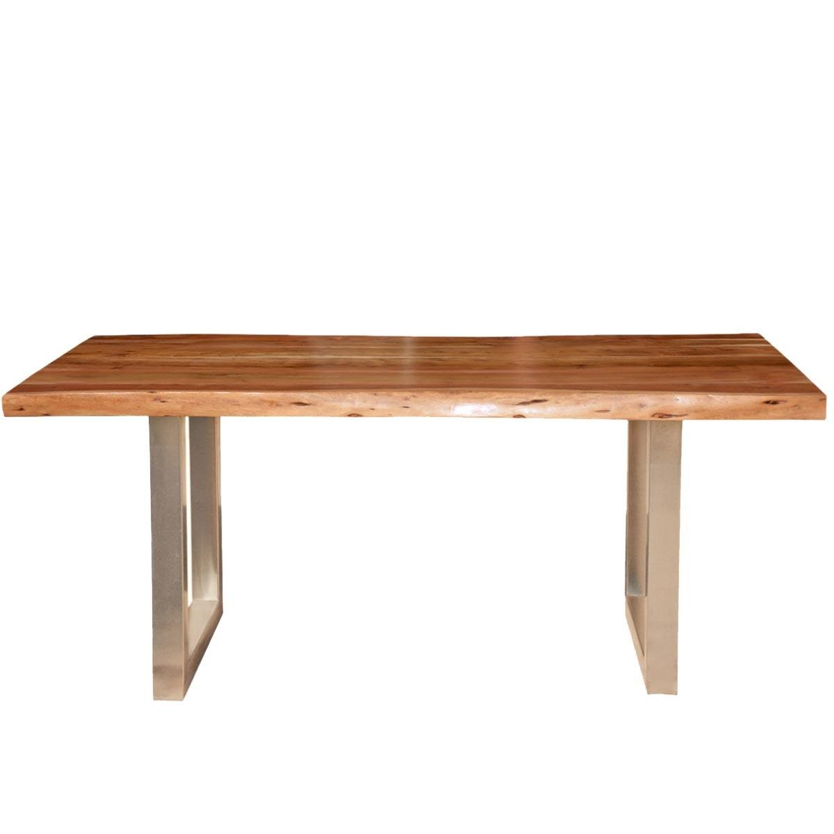 Acacia Wood Rustic Live Edge Dining Table Industrial