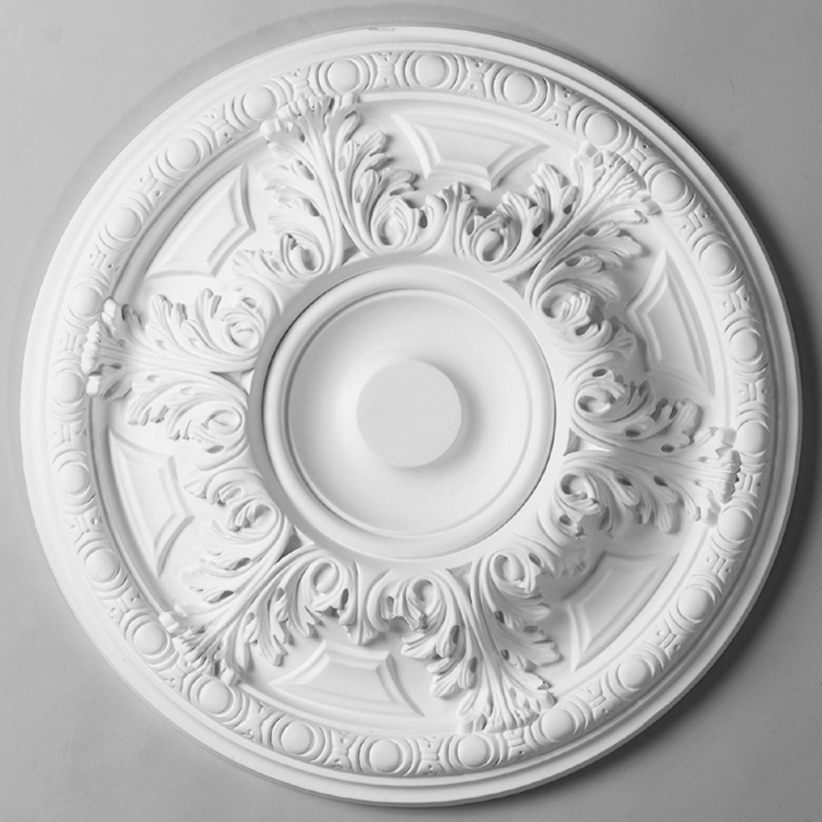 Acanthus Leaf Egg Border Ceiling Medallion