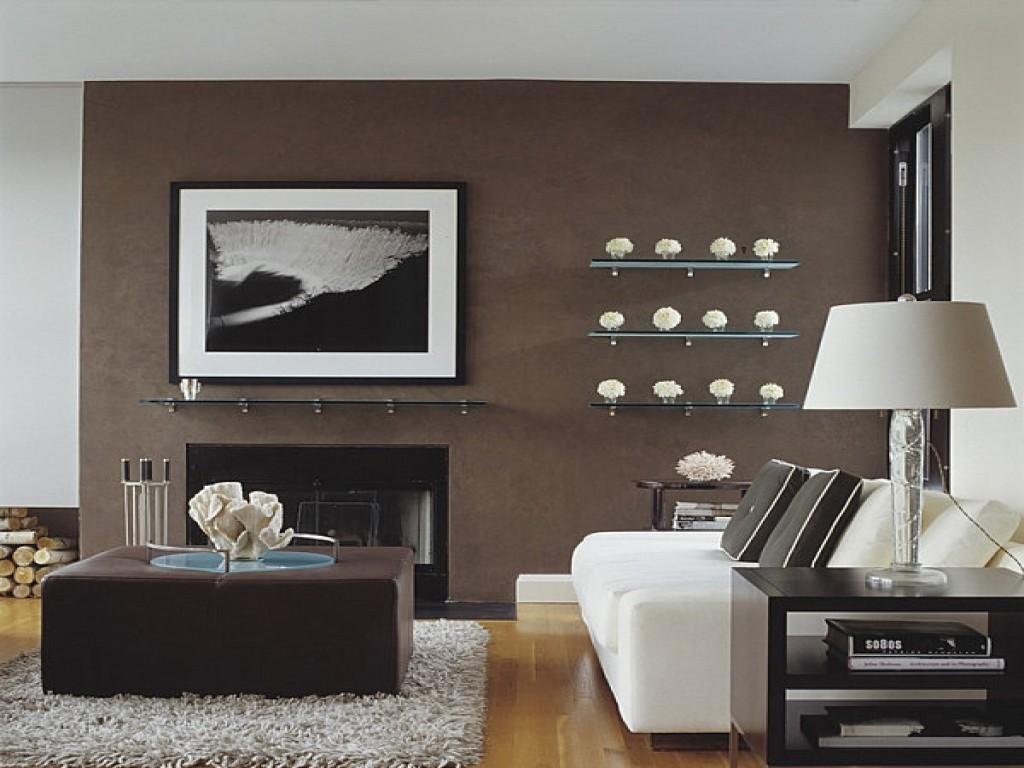 Accent Decor Living Room Brown Wall