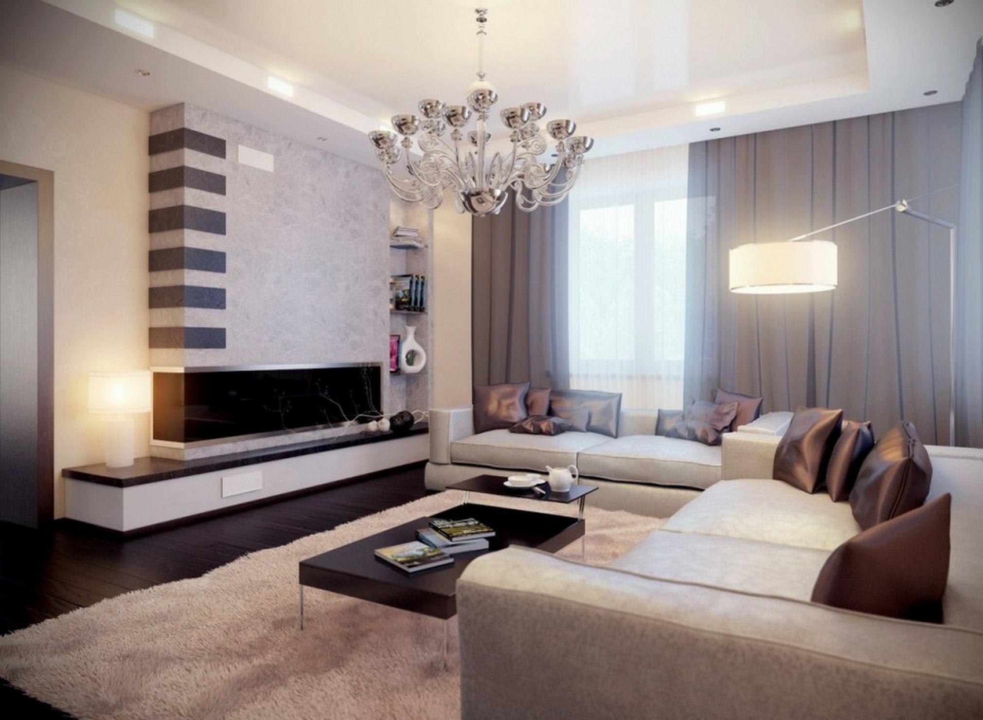 Accent Wall Ideas Living Room Round Brown Lacquered