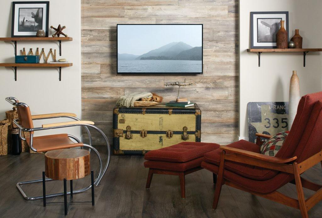 Accent Walls Laminate Planks Make Installation Easy