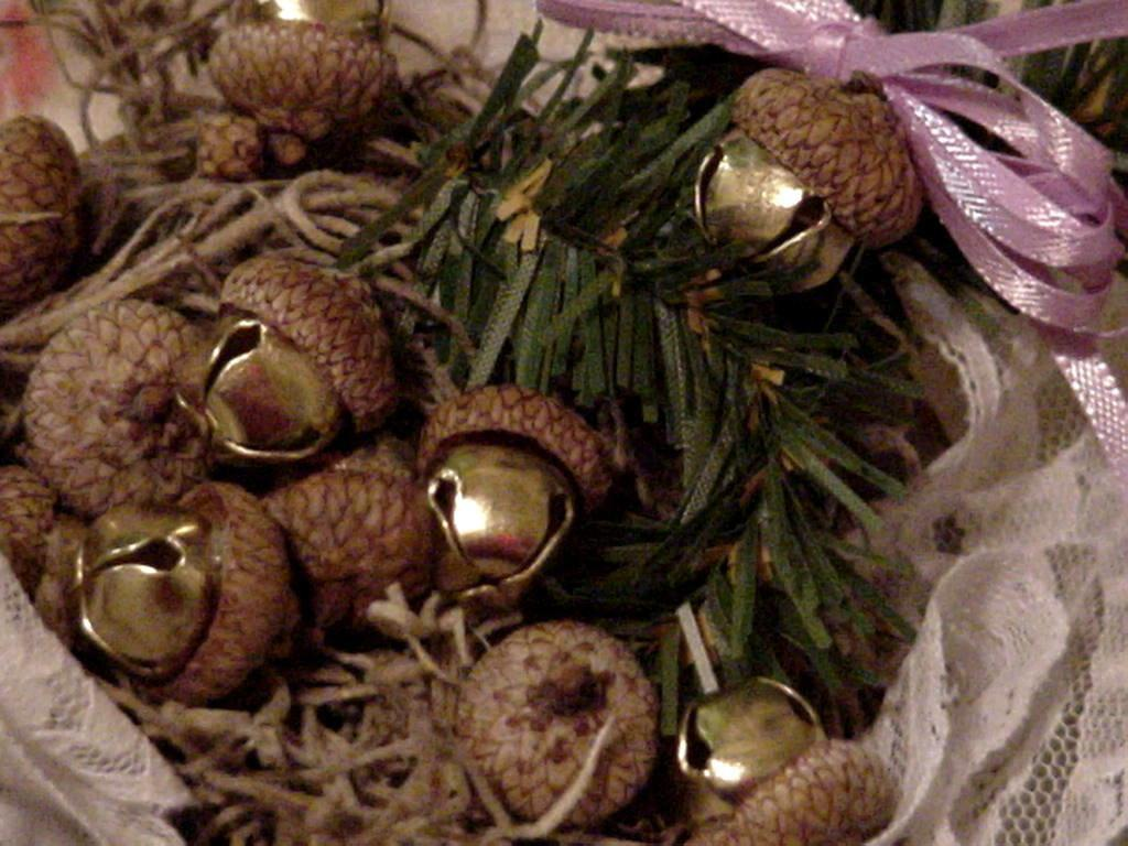 Acorn Jingle Bells Autumn Elegant Rustic Woodland Wedding