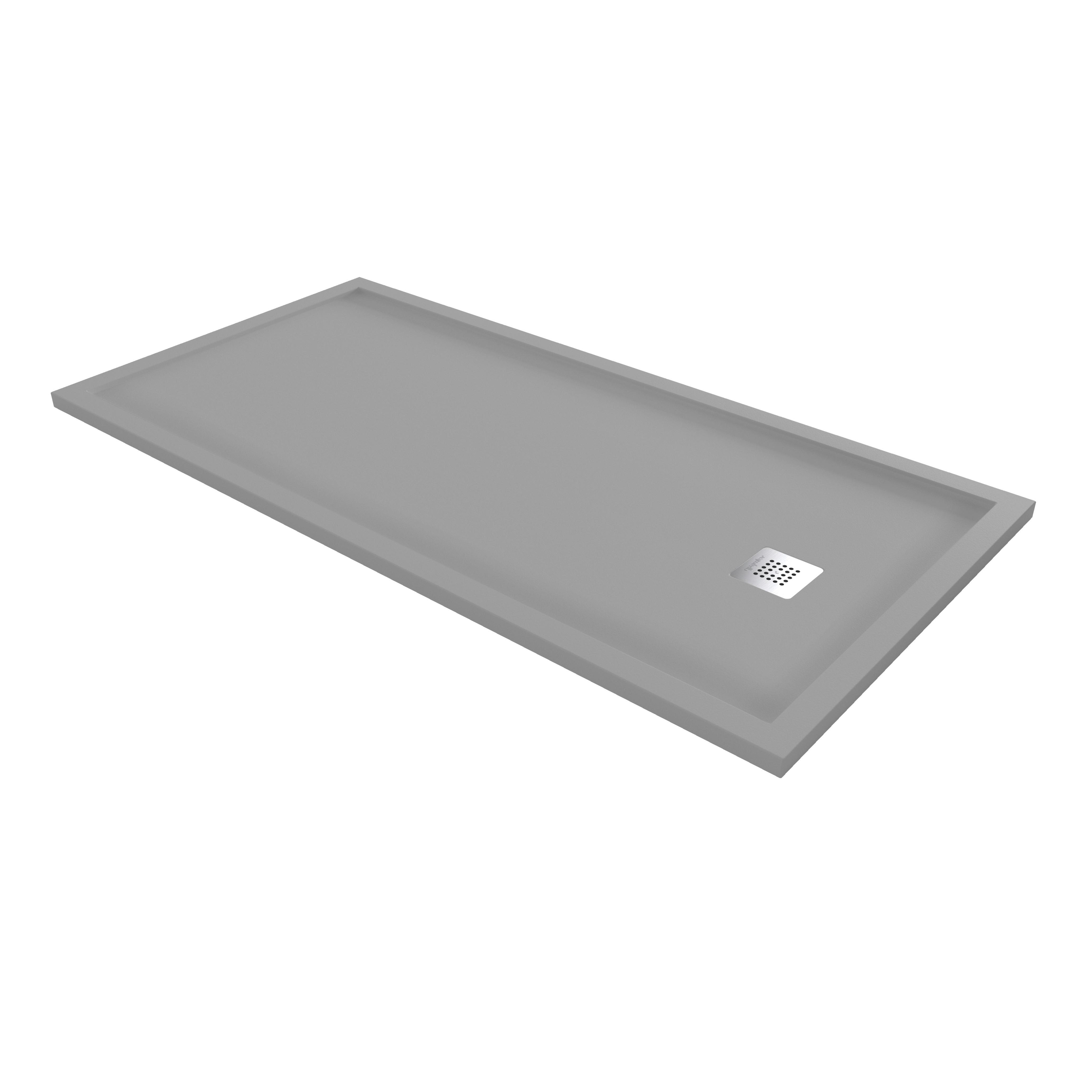 Acquabella Arq Zero Cemento Shower Tray