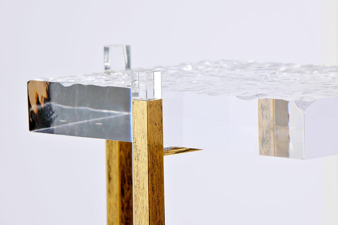 Acrylic Side Table Coffee Square