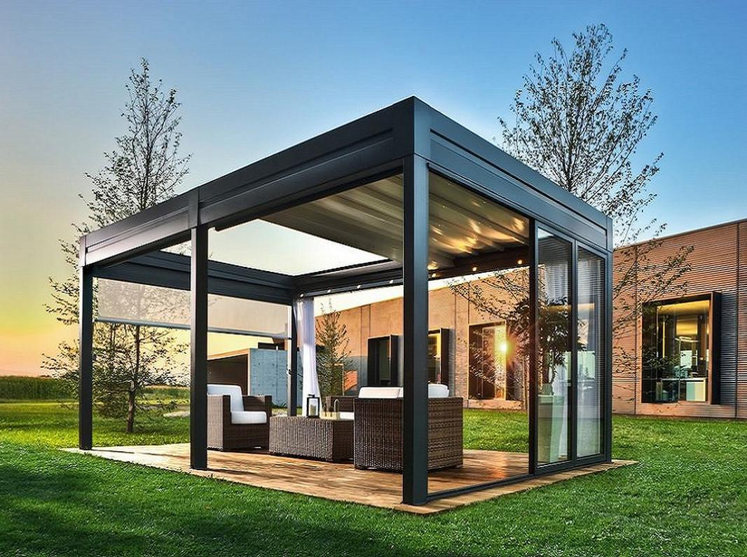 Add Drama Your Outdoor Stained Glass Gazebo