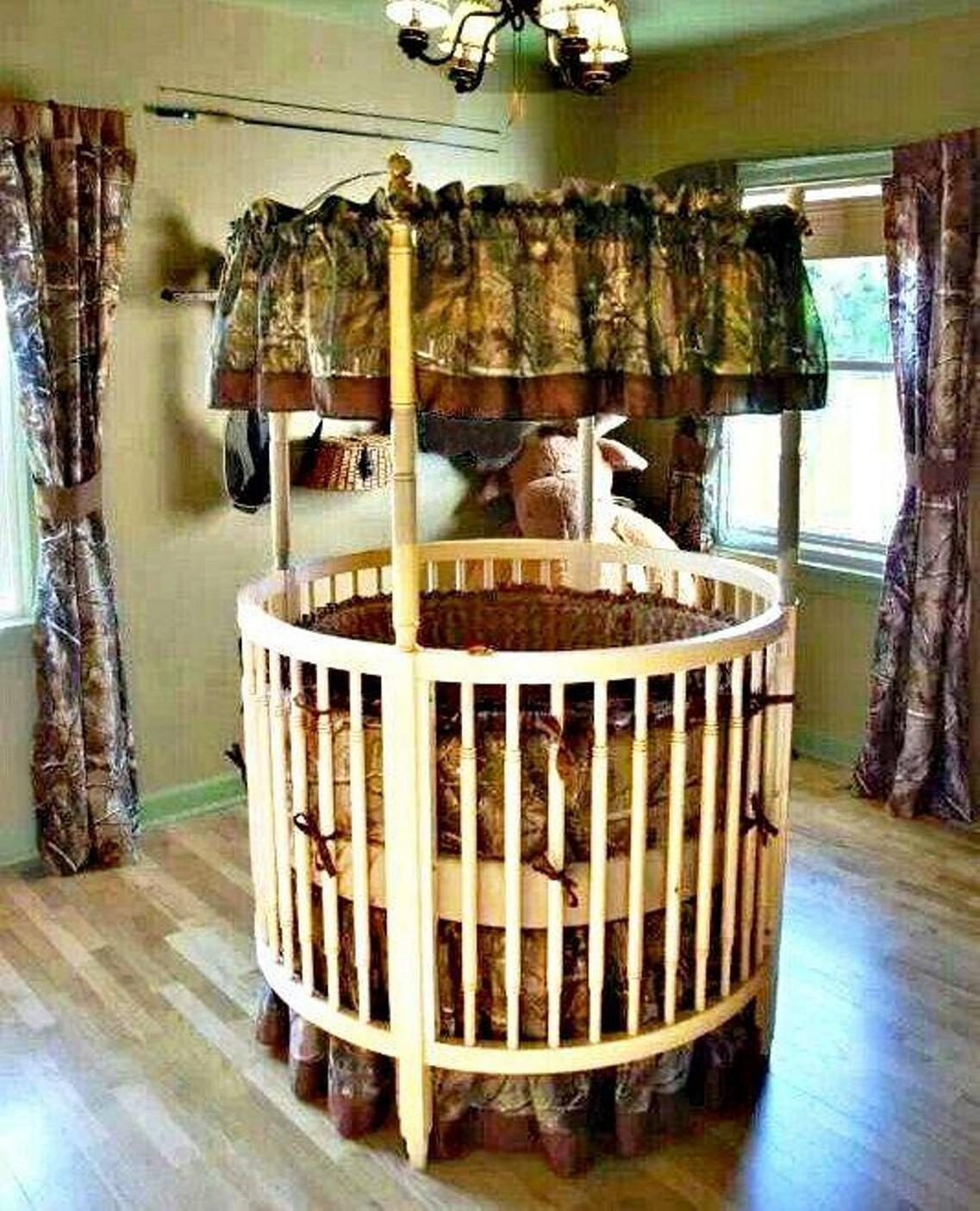Adding Unique Beautiful Round Baby Cribs Appealing