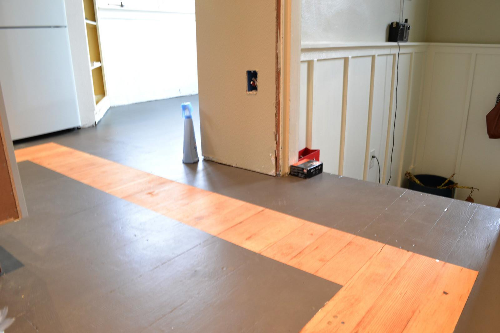 Additional Painting Hardwood Floors Minimalist Neat