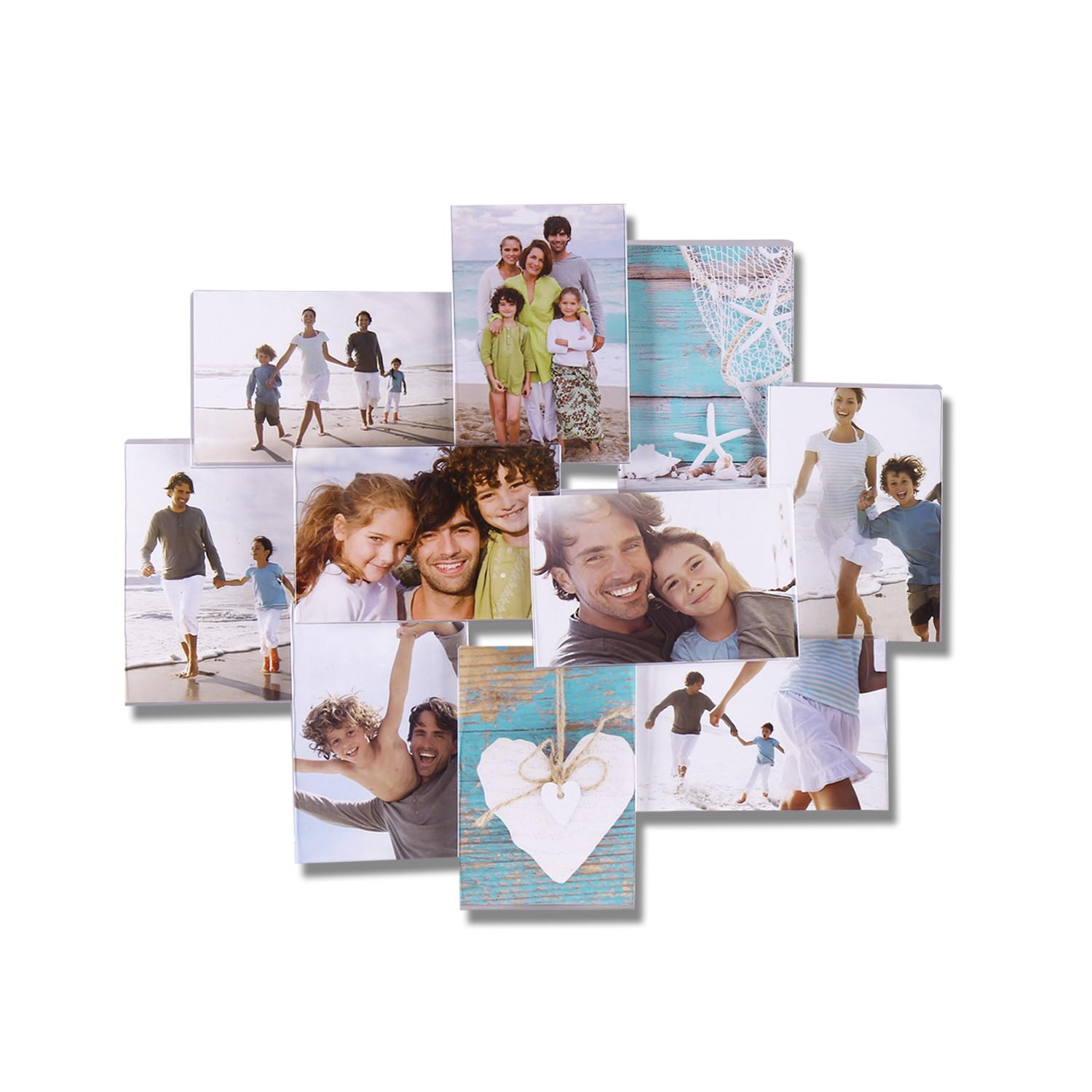 Adeco Decorative Clear Plastic Wall Hanging Collage