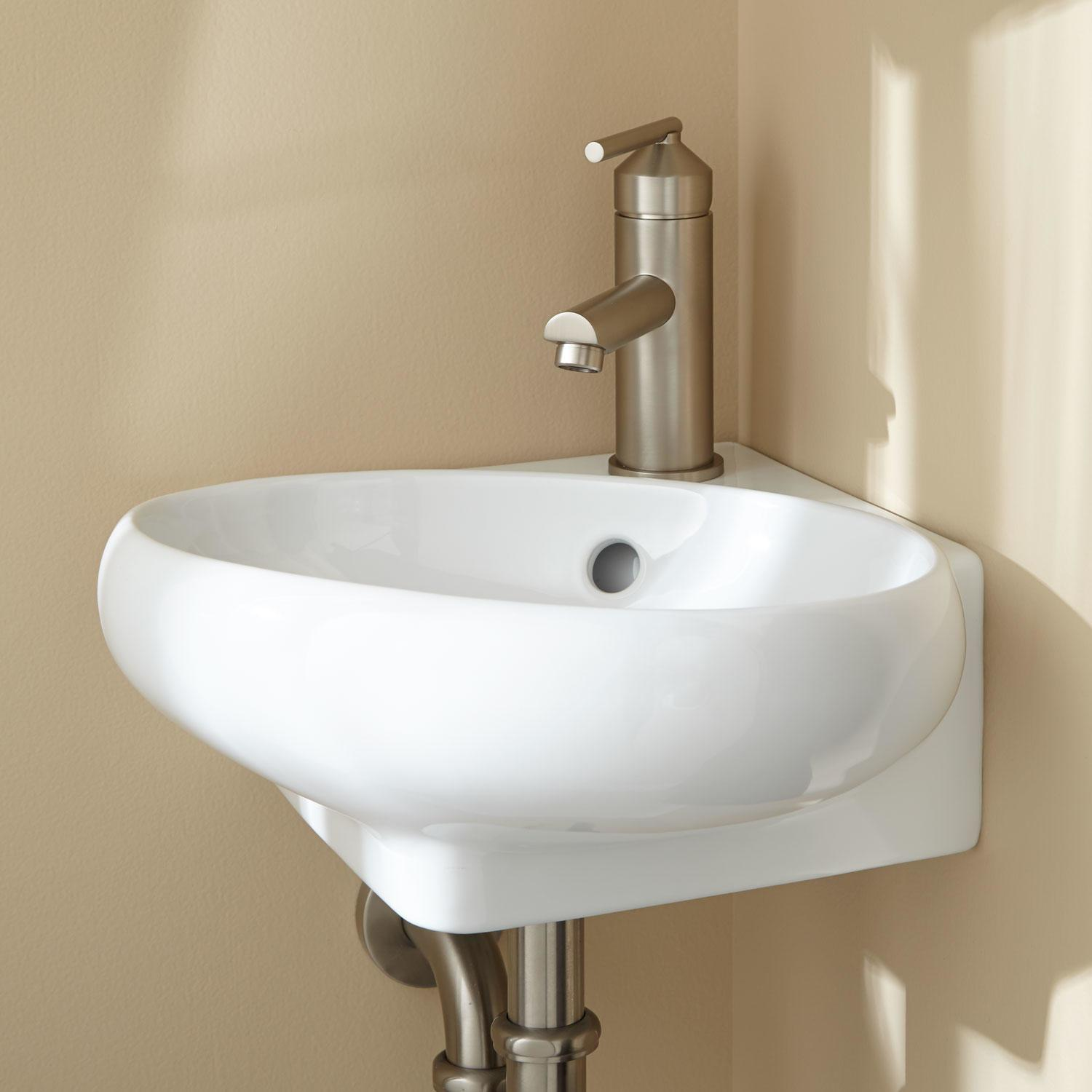 Adella Corner Wall Mount Bathroom Sink