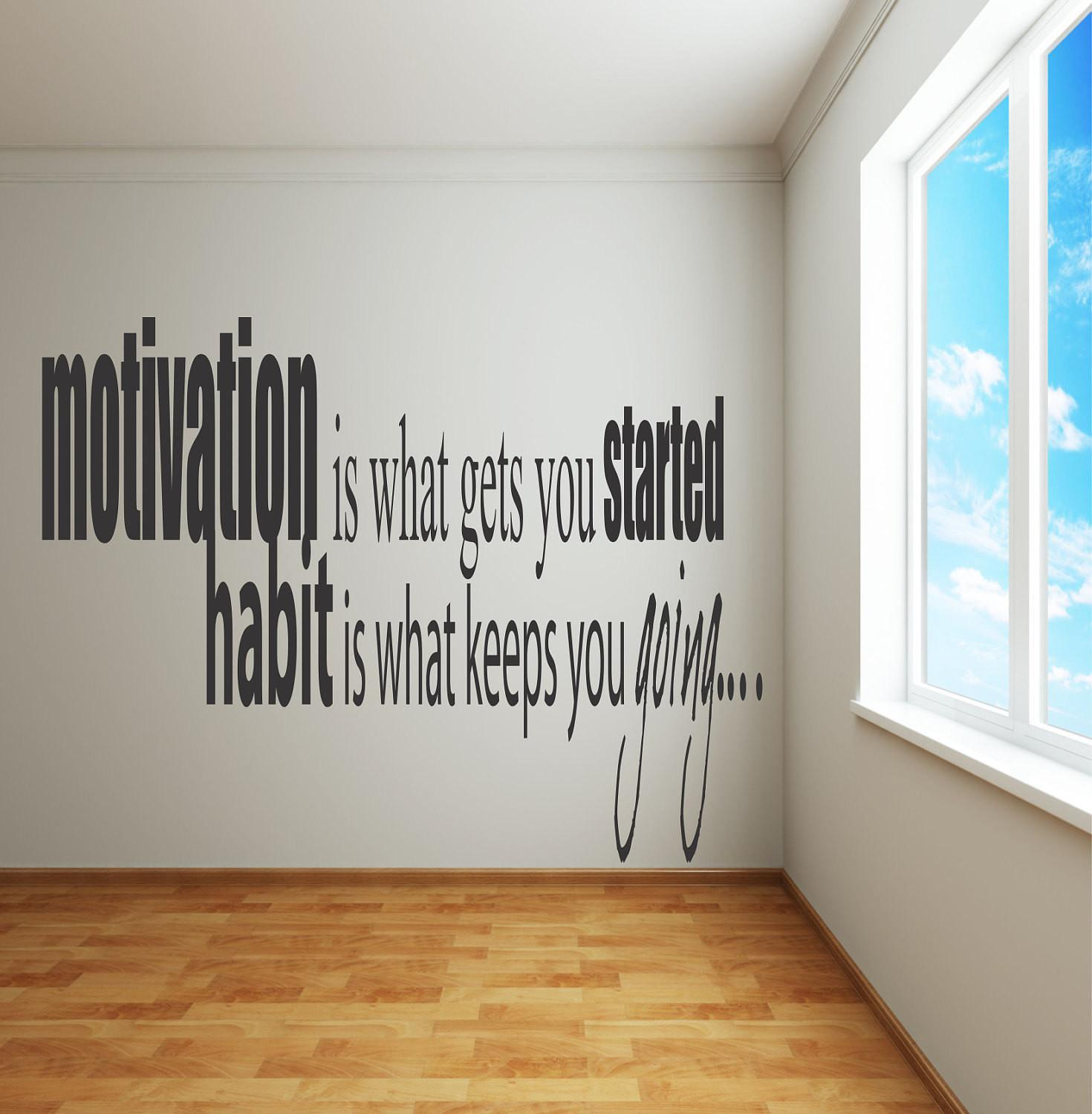 Adhesive Wall Decals Motivation Gets