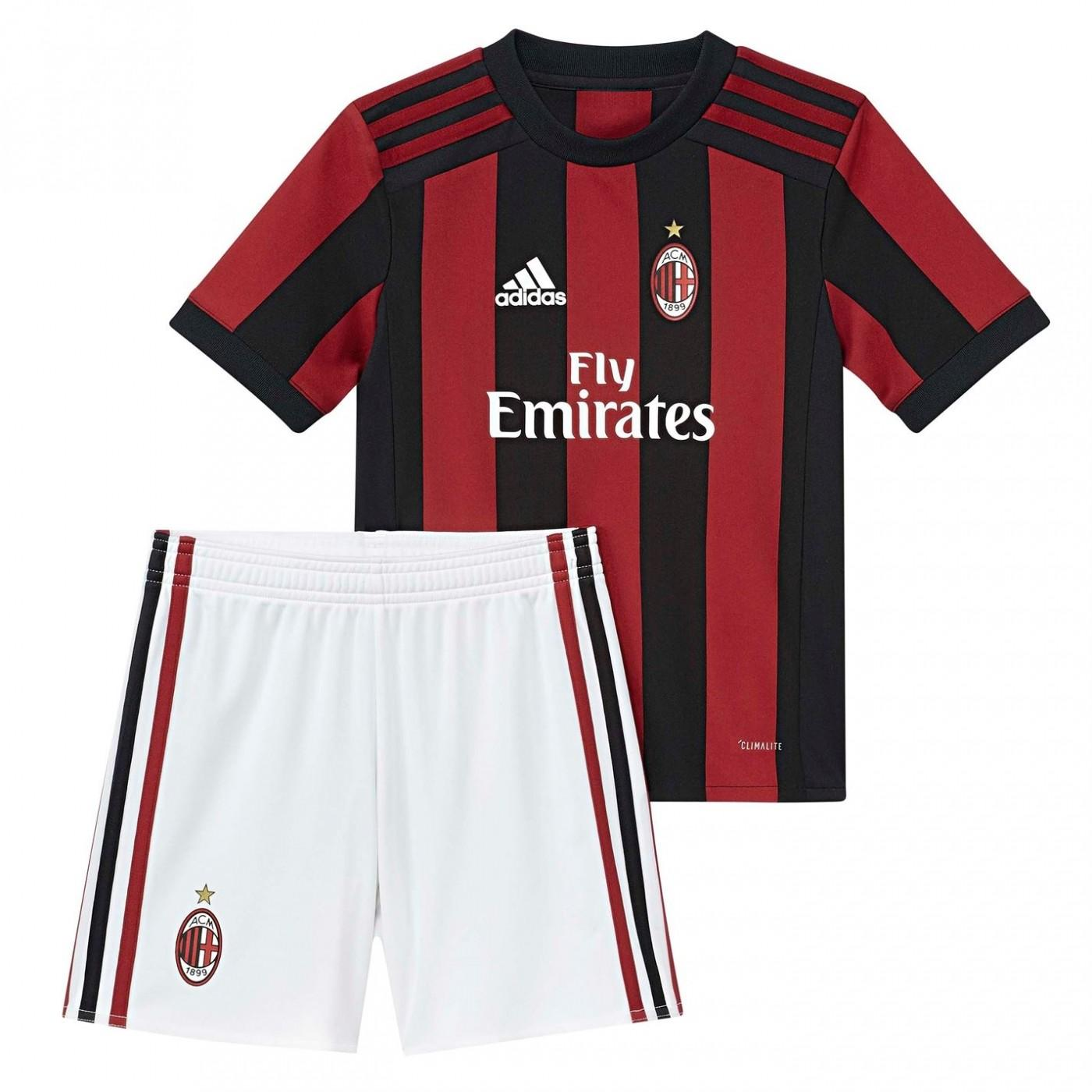 Adidas Milan Home Mini Kit 2017 2018 Factcool