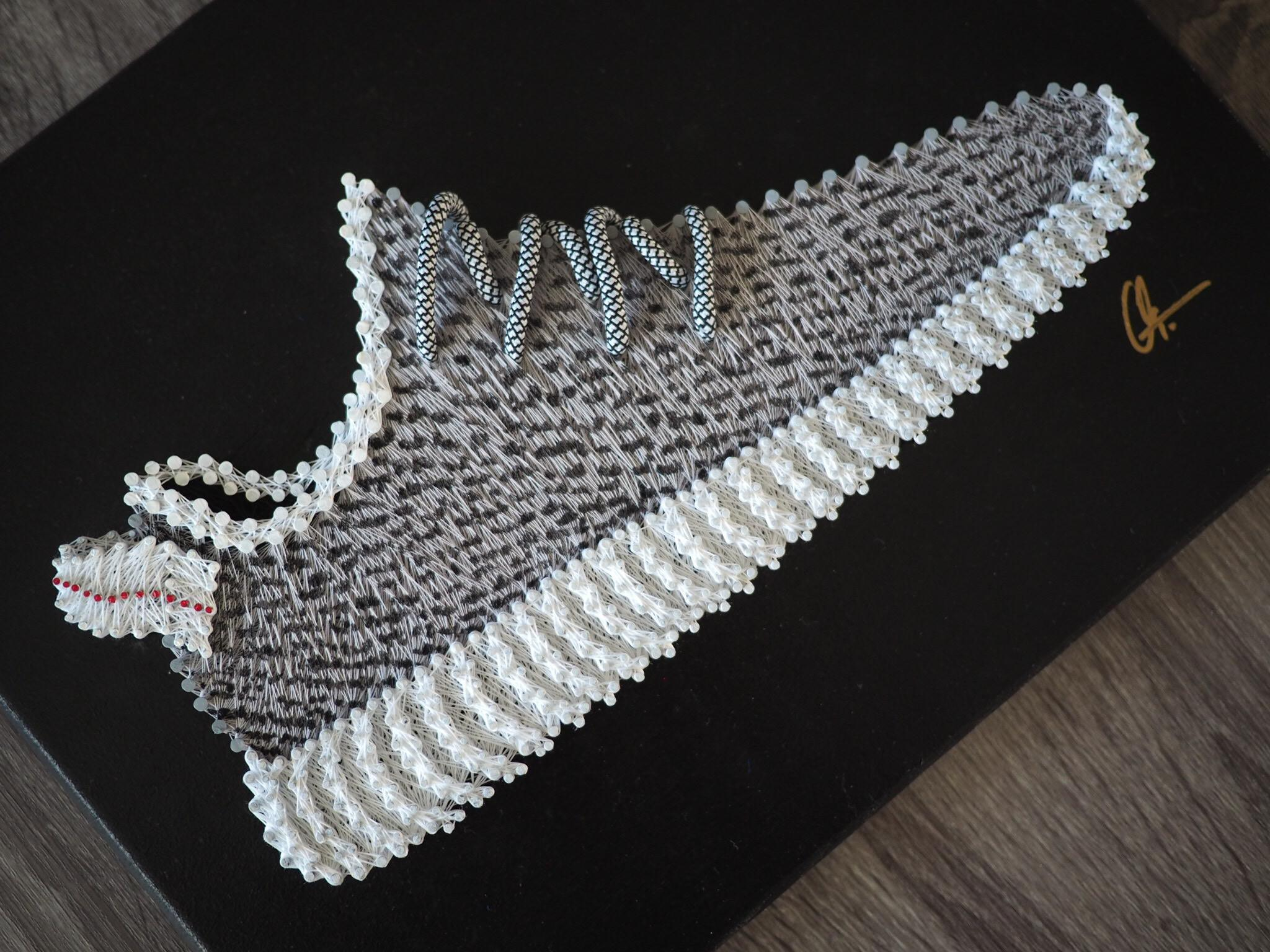 Adidas Yeezy Boost 350 Turtledove String Art Piece