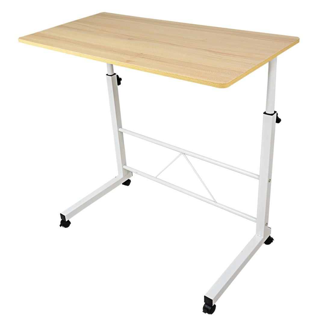 Adjustable Laptop Desk Home Table Rolling Height Over Bed
