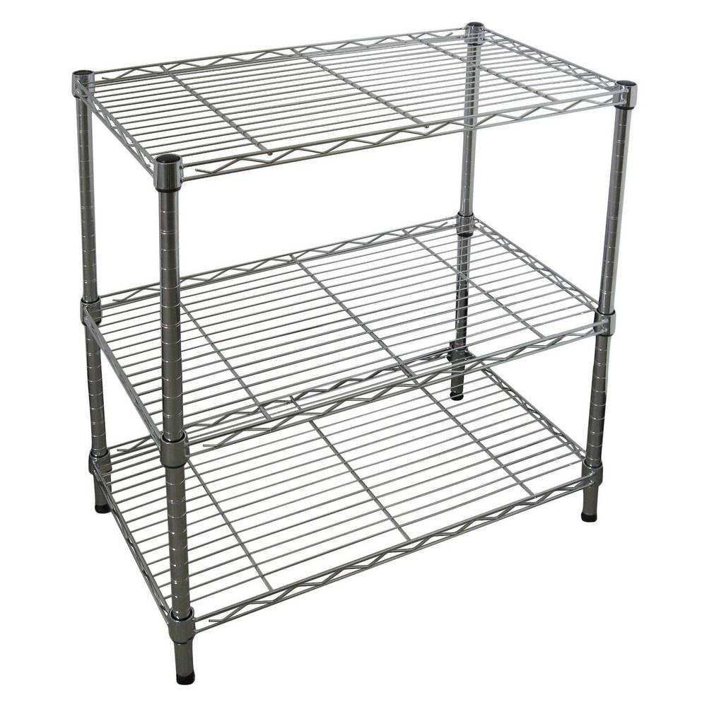Adjustable Tier Wire Shelving Chrome Room Essentials