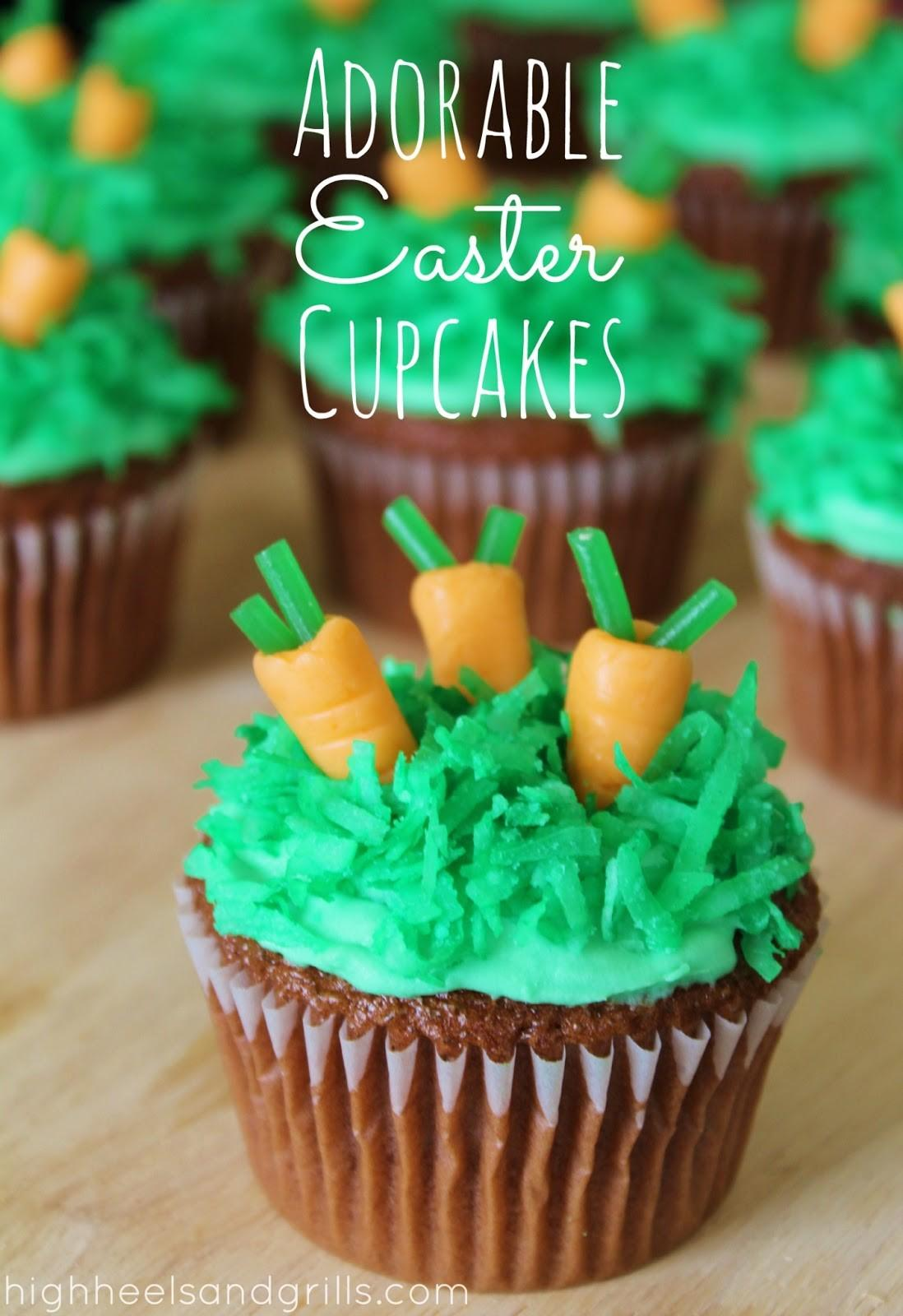 Adorable Easter Cupcakes High Heels Grills