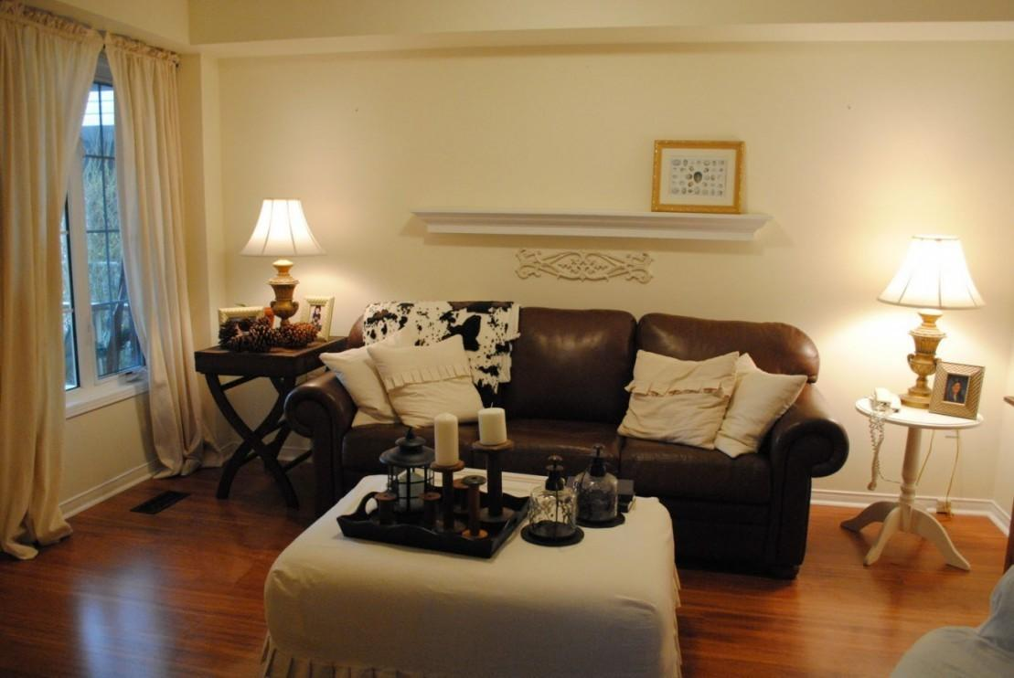 Adorable Leather Living Room Ideas Brown