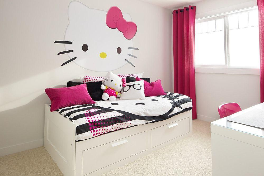 Adorably Stylish Hello Kitty Bedrooms Delight