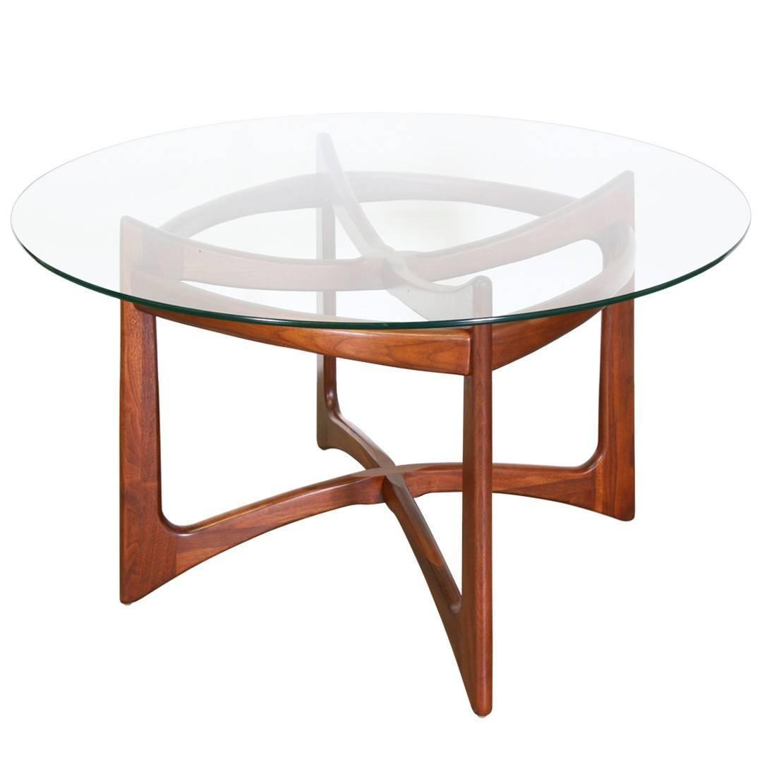Adrian Pearsall Sculptural Base Dining Table Glass