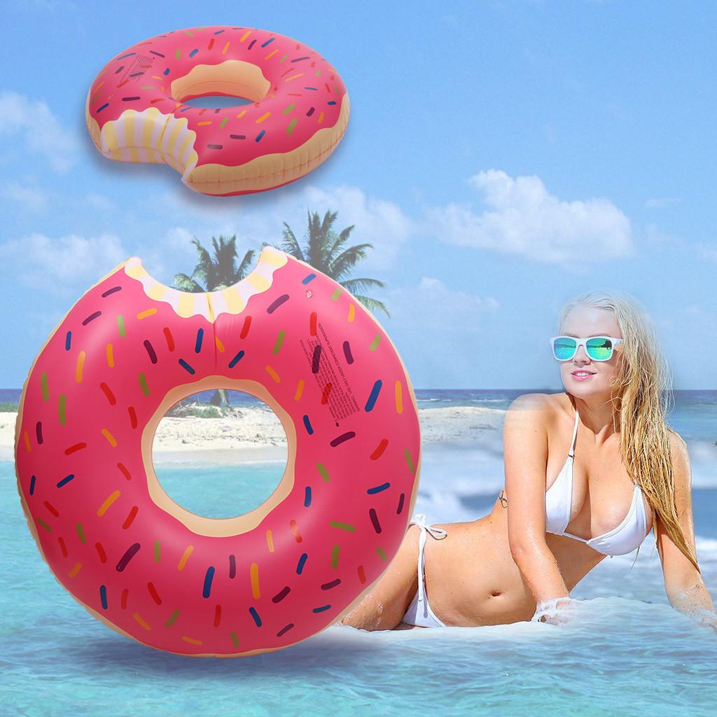 Adults Inflatable Swim Ring Pool Float Indoor Outdoor Raft