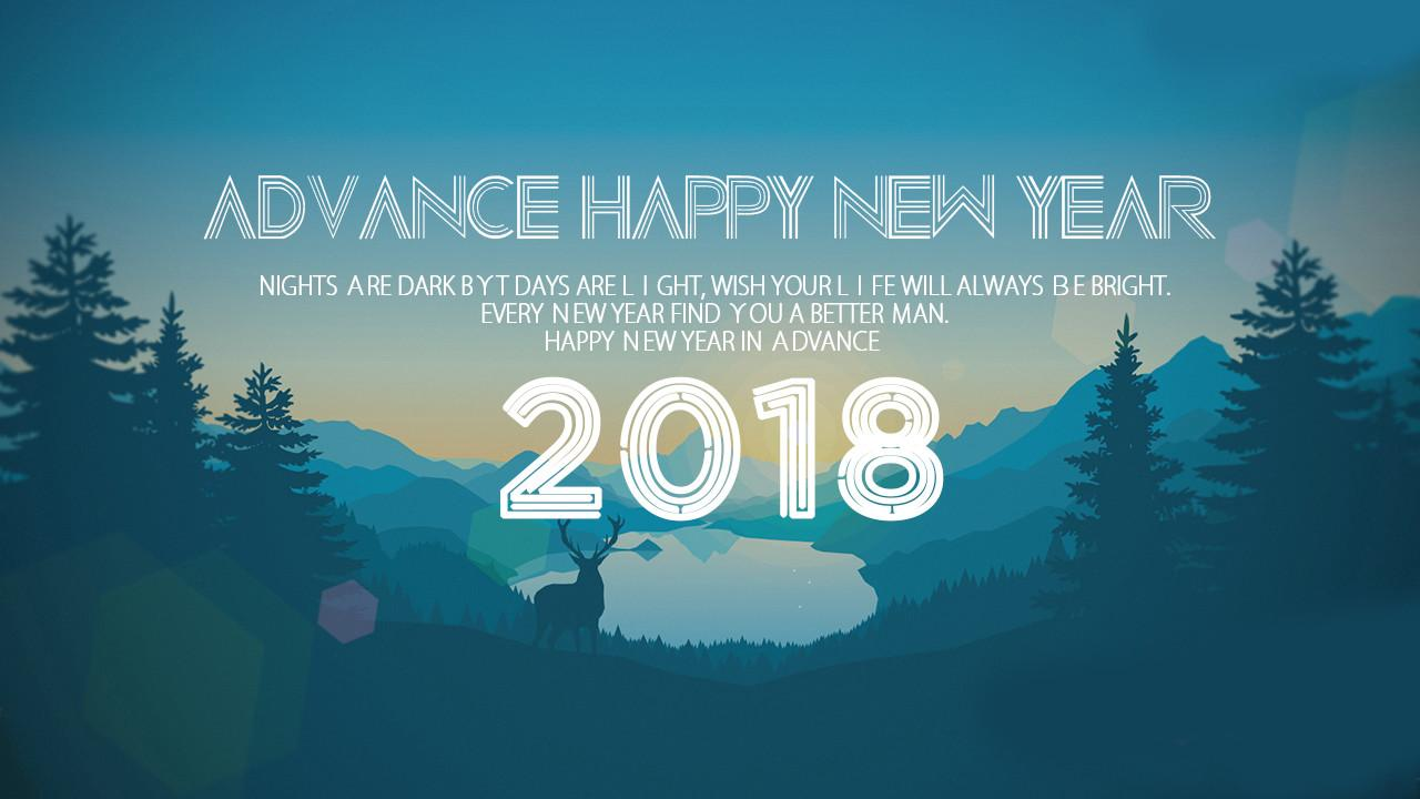 Advance Happy New Year 2018 Wishes Pic
