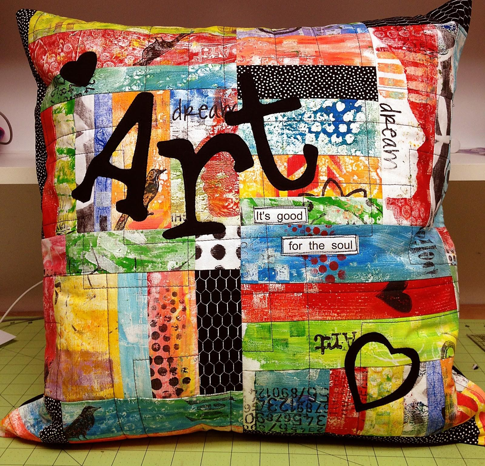Adventures Art Gelli Print Pillow