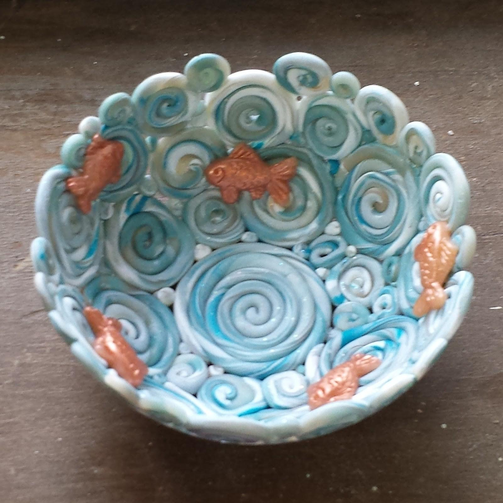 Adventures Creativity Tiny Polymer Clay Bowl Gold