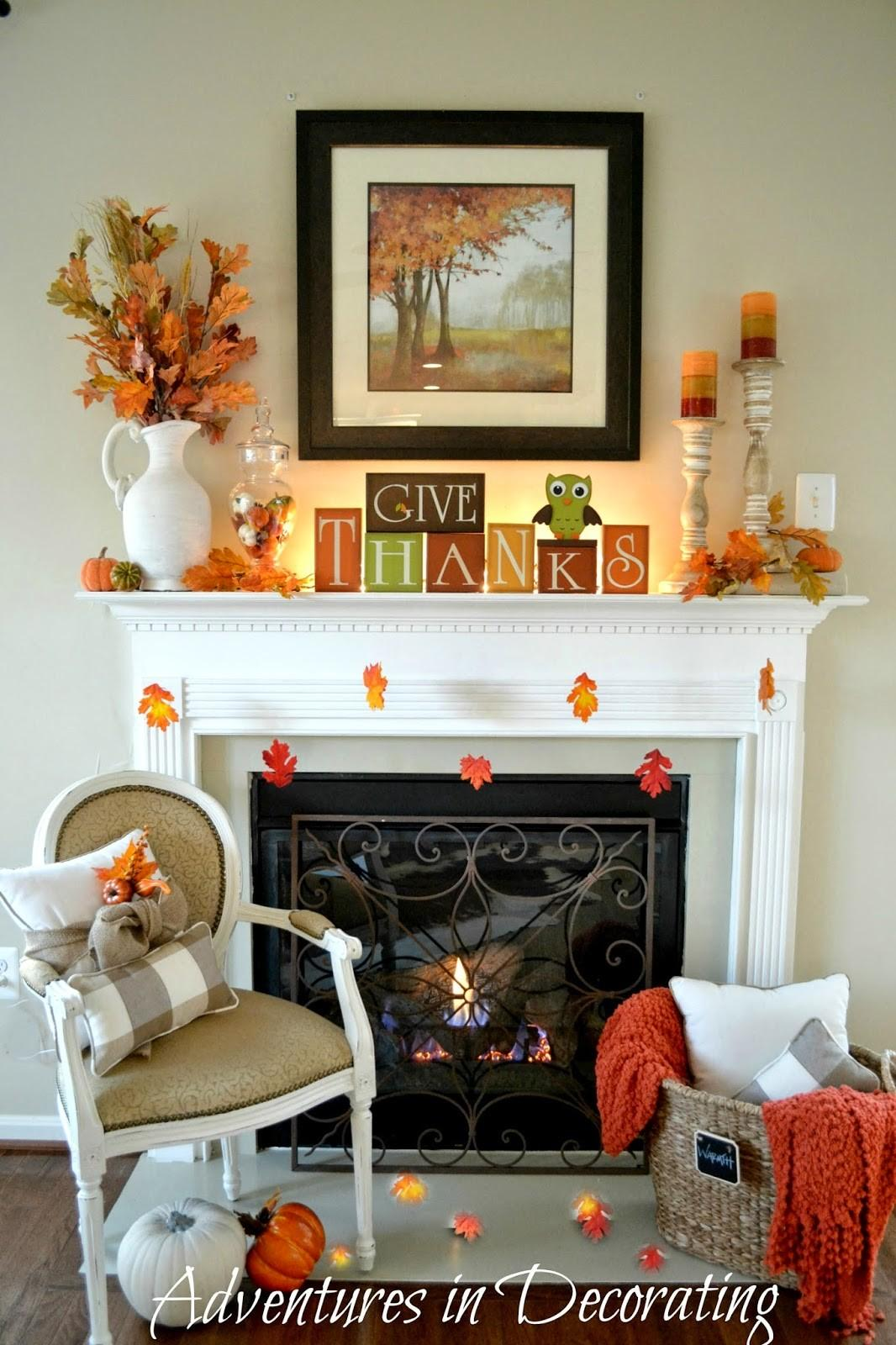 Adventures Decorating Our Simple Fall Mantel