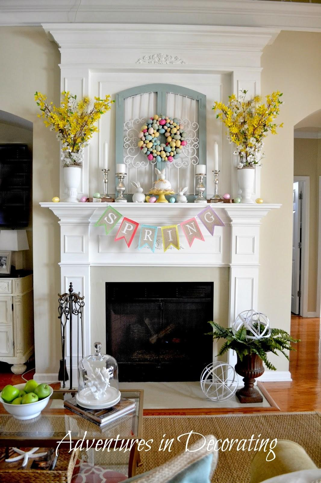 Adventures Decorating Styling Our Spring Mantel