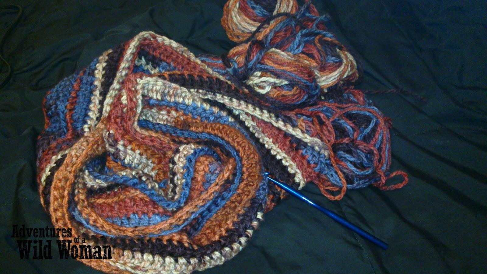 Adventures Wild Woman Comfy Crocheted Eternity Scarf