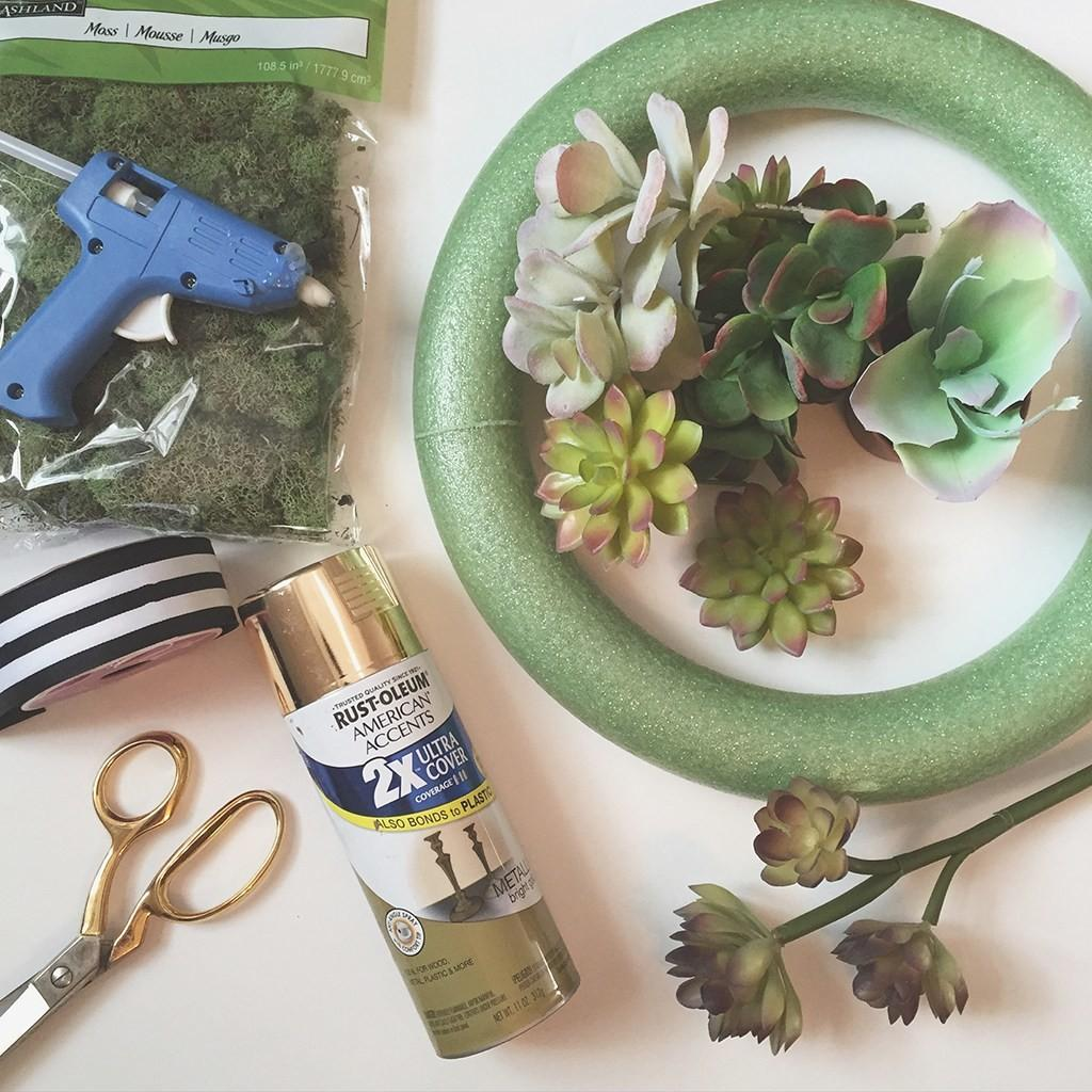 Affordable Easy Pretty Diy Faux Succulent Wreath