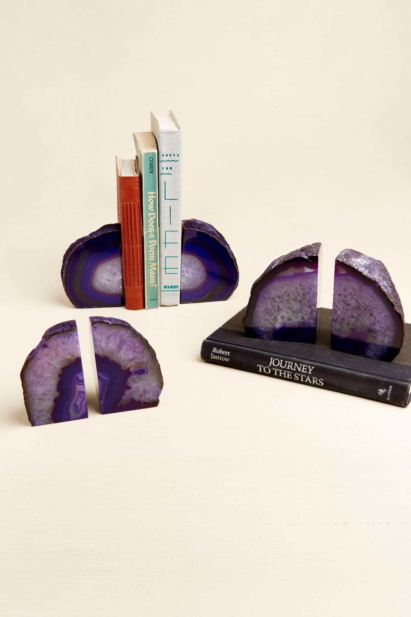 Agate Bookends 94cm Pink Genuine Brazilian