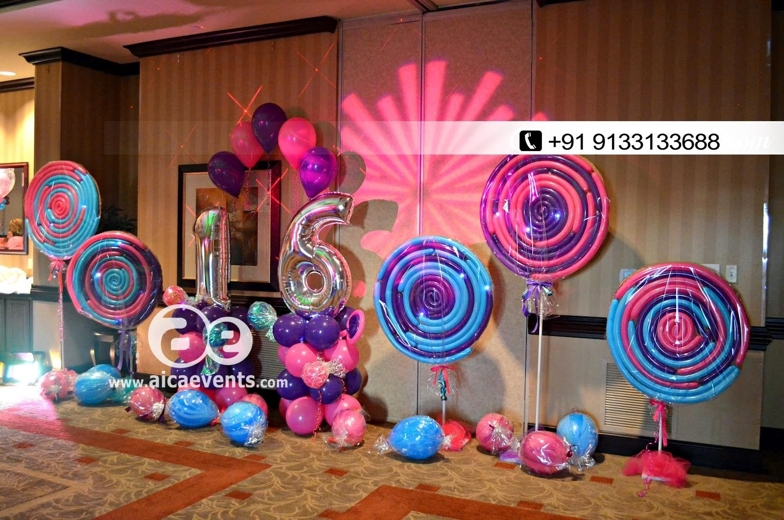 Aicaevents Candy Theme Decorations Hyderabad