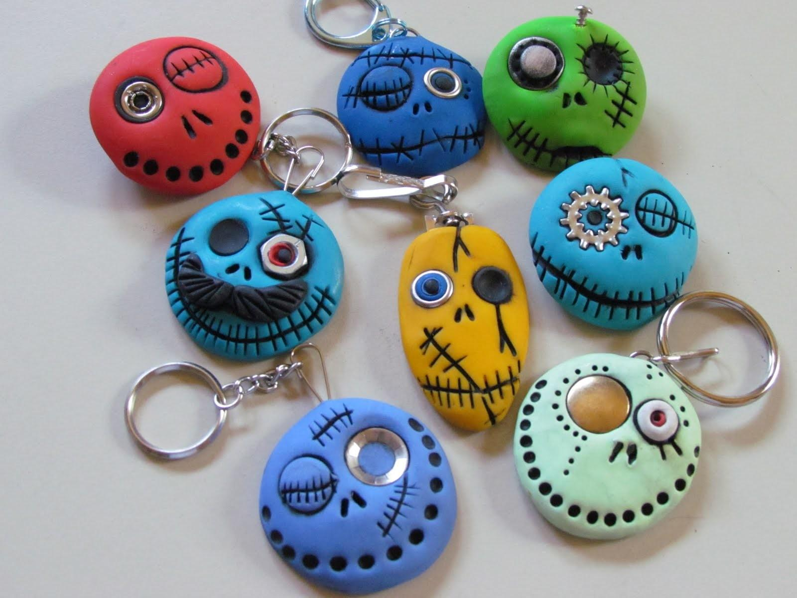 Air Dry Clay Tutorials Cute Monster Keychains Magnets