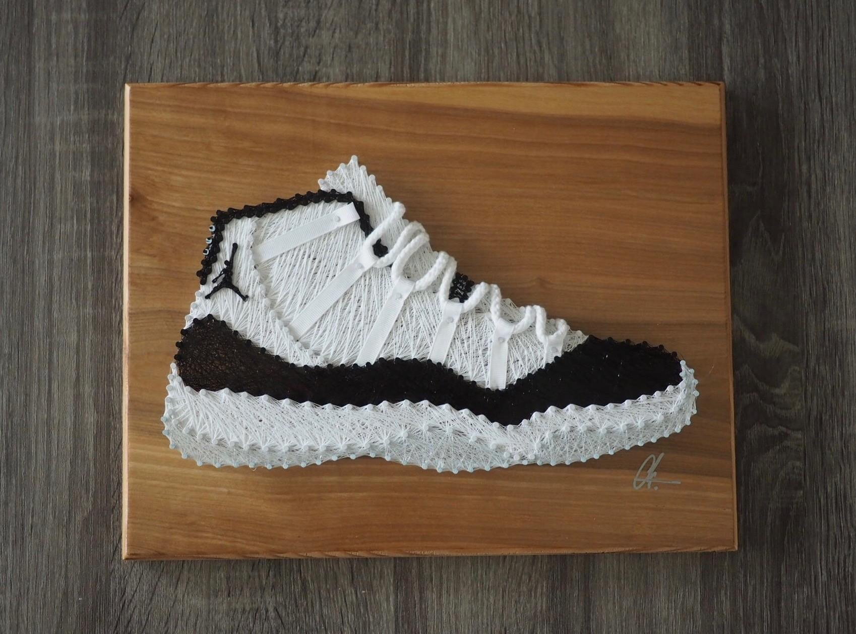 Air Jordan Concord String Art Piece