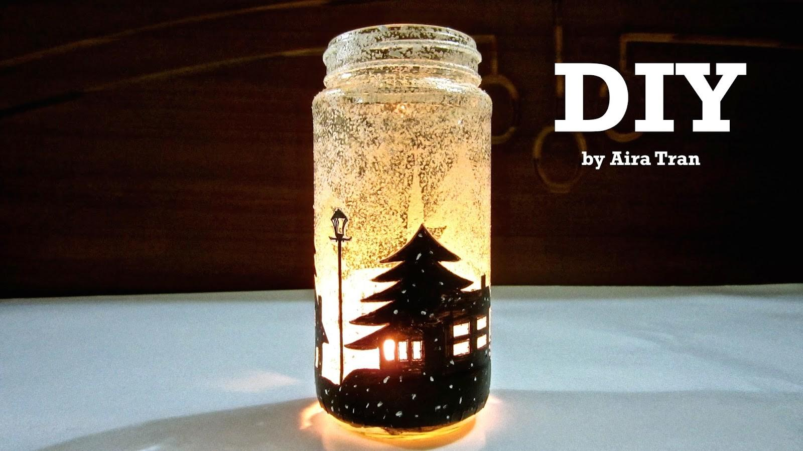 Aira Tran Diy Christmas Decorations Candle Jars