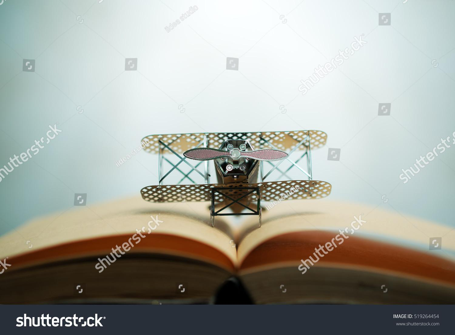 Aircraft Fighter Open Education Book Stock