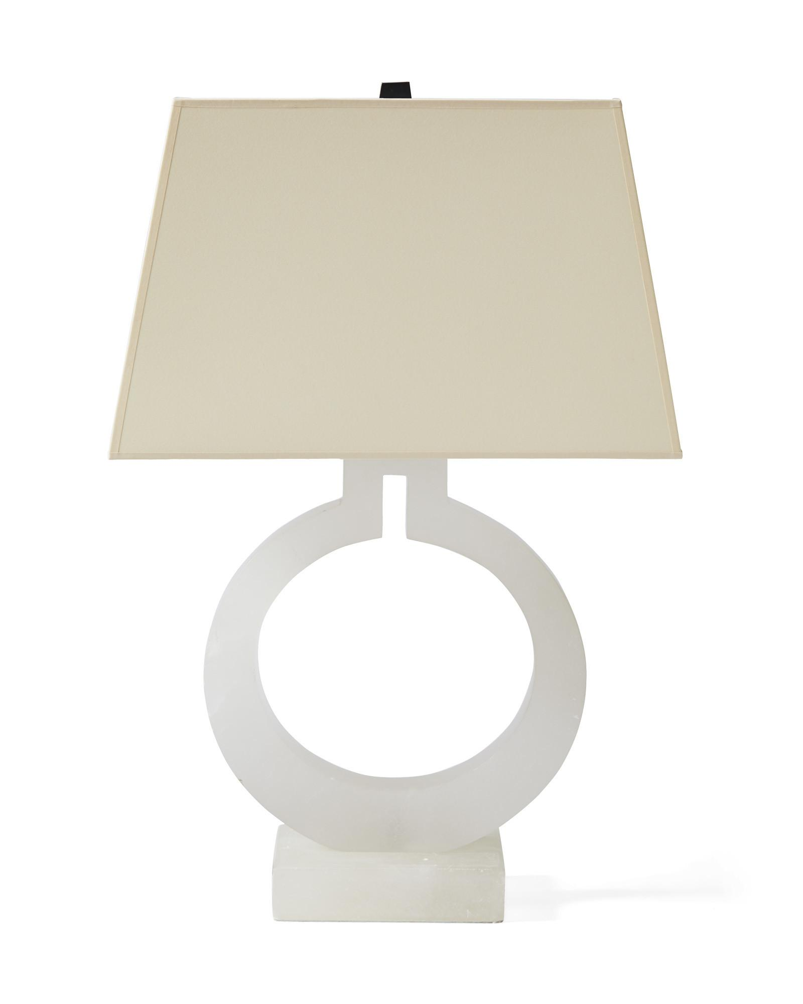 Alabaster Ring Table Lamp Serena Lily